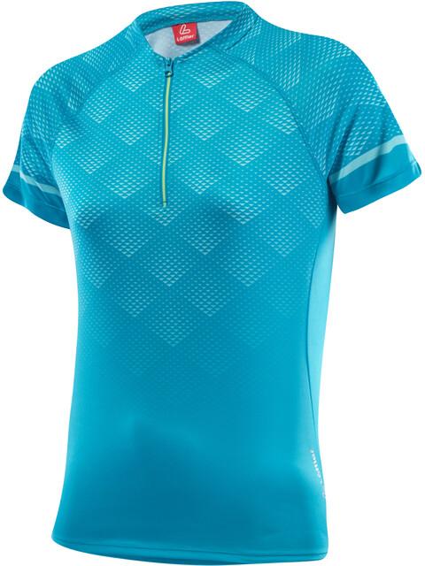 Löffler Jessy Bike Shirt Half-Zip Damen topazblue